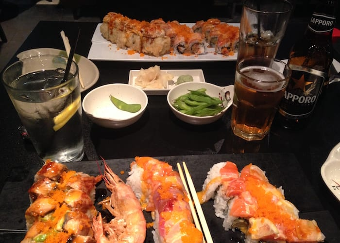 Healthy Sushi Dinner with David Aston