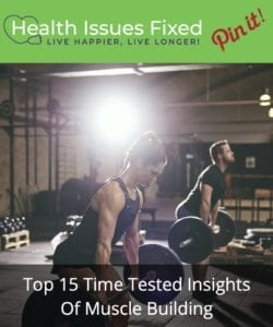 man and woman doing clean and press workout to build muscle pinterest graphic