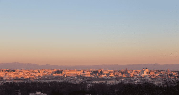 Gianicolo Hill, Rome, Italy Sunset