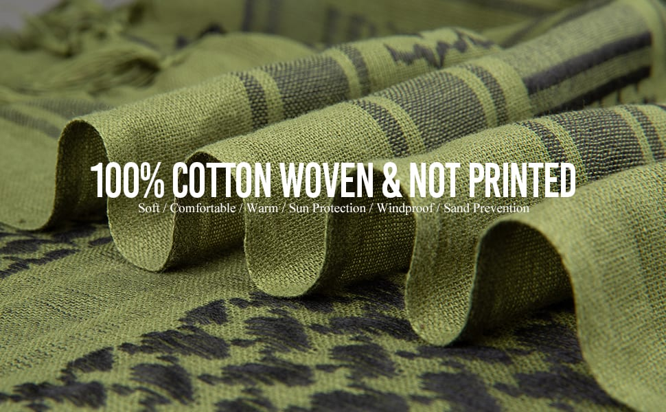 Woven Cotton Not Printed Shemaghs