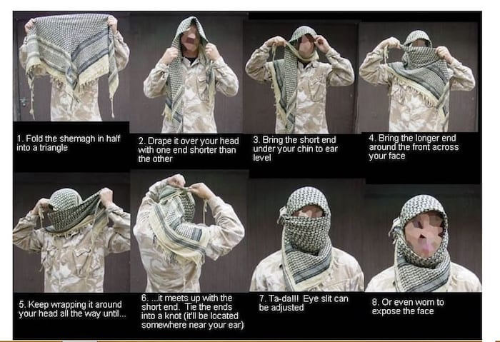 How to Where A Shemagh Scarf