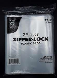 9X12 2mil Clear Resealable Plastic Bag By ZPlastics