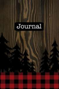 Journal: (Rustic Outdoors Red Buffalo Check 6x9 Lined)