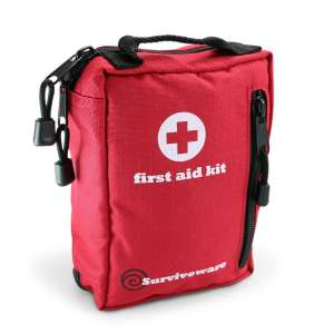 Small First Aid Kit for Hiking, Backpacking, Camping, Travel, Car & Cycling.