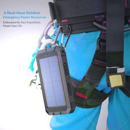 Solar Charger on Carabiner