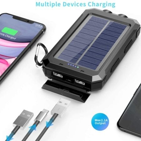 chargers three devices at once and has 2.1A output