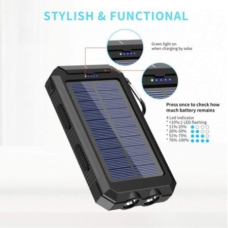 stylish and functional solar phone charger