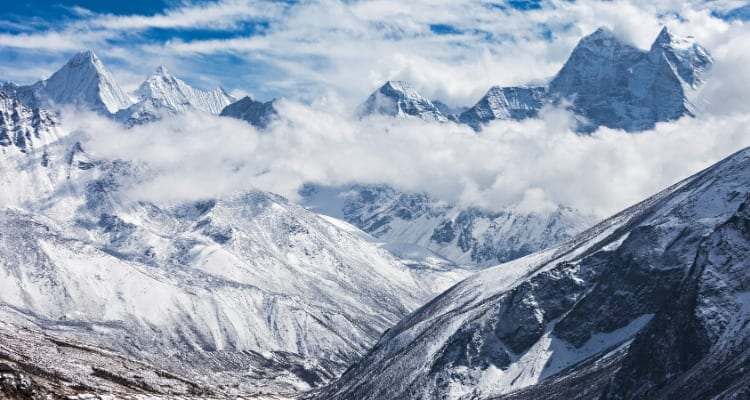 Nepal From The Summit Of Mt Everest