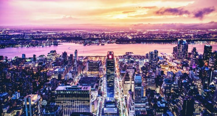City Scape Of New York From The Empire State Building