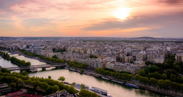 View Paris From The Top Of The Eiffel Tower