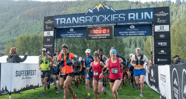 Competitors of the Transrockies Run begin their several day summer adventure