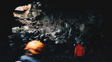 cave hikers