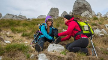 Injured Hiker Experiencing Pain On The Trail