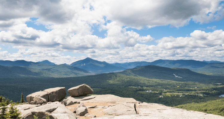 Views of mountain and forests, while Hiking in Keene New York