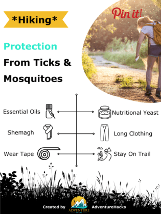 Protection from Ticks and Mosquitoes While Hiking Infographic